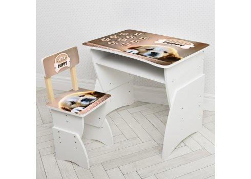 """Детская стол-парта со стульчиком """"Щенок"""" Bambi 905-102 бежевий"""