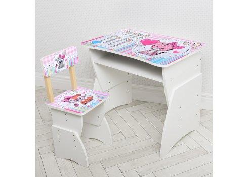 """Детская стол-парта со стульчиком """"Лисенок"""" Bambi 905-104 белый"""
