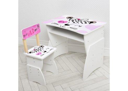 Детская стол-парта со стульчиком Bambi 905-50 белый с розовым