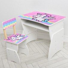 """Детская стол-парта со стульчиком """"Единорог"""" Bambi 905-65"""