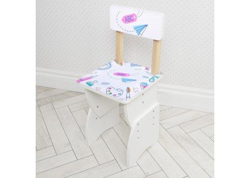 """Детская стол-парта со стульчиком """"Алфавит"""" Bambi 905-96(EN) белый"""