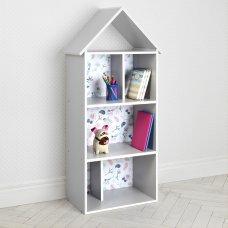 Детский стеллаж для книг и игрушек (домик-полка) Совы BAMBI H 2020-13-1 серый