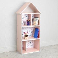 Детский стеллаж для книг и игрушек (домик-полка) Совы BAMBI H 2020-13-2 розовый