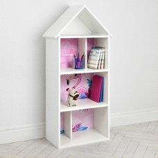 Детский стеллаж для книг и игрушек (домик-полка) Фламинго BAMBI H 2020-14-3 белый