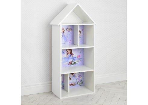 Детский стеллаж для книг и игрушек (домик-полка) София Прекрасная BAMBI H 2020-15-2 белый