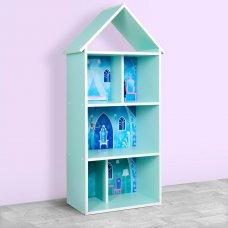 Детский стеллаж для книг и игрушек (домик-полка) Холодное сердце - Frozen BAMBI H 2020-5-1 мята