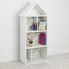 Детский стеллаж для книг и игрушек (домик-полка) Динозавры BAMBI H 2020-9-1 белый