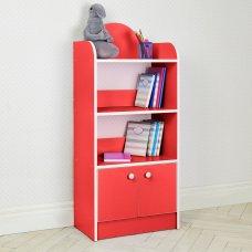 Полка-стеллаж для книг и игрушек, этажерка детская BW 207-10 красный