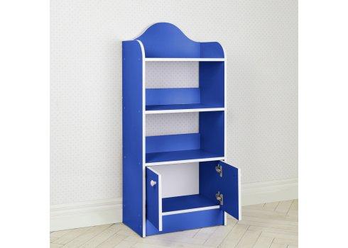 Полка-стеллаж для книг и игрушек, этажерка детская BW 207-4 синий