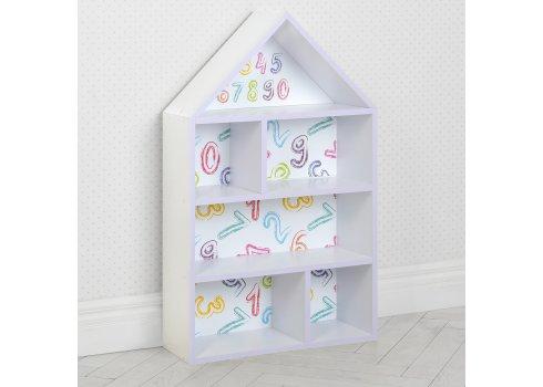 Домик-стеллаж для игрушек 95 см Математика PLK-L-85 белый