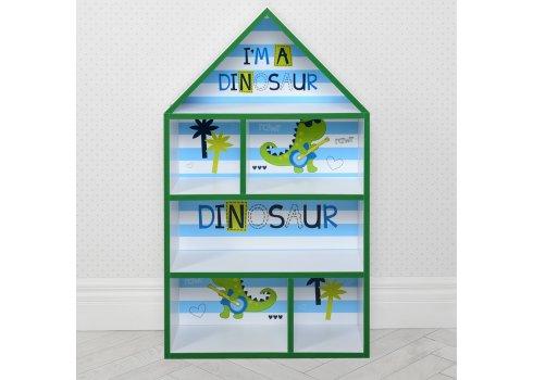 Домик-стеллаж для игрушек 95 см Дино PLK-L-86 белый