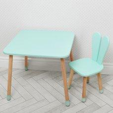 Столик со стульчиком Зайчик Bambi 04-025B бирюзовый
