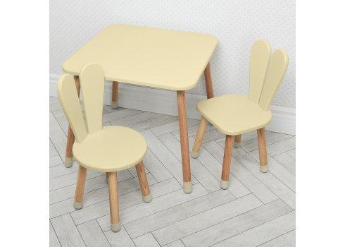 Столик и два стульчика Зайчик Bambi 04-025BEIGE+1 бежевый