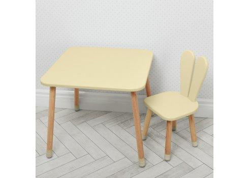 Столик со стульчиком Зайчик Bambi 04-025BEIGE бежевый