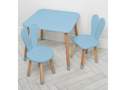Столик и два стульчика Зайчик Bambi 04-025BLAKYTN+1 голубой