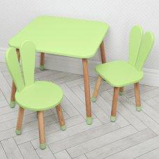 Столик и два стульчика Зайчик Bambi 04-025G+1 зеленый