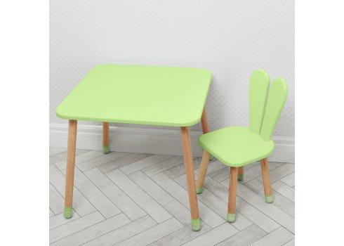 Столик со стульчиком Зайчик Bambi 04-025G зеленый