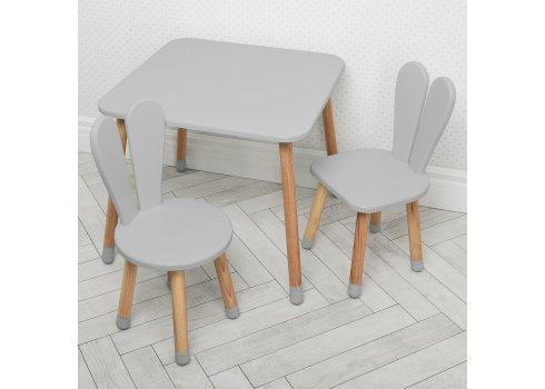Столик и два стульчика Зайчик Bambi 04-025GREY+1 серый