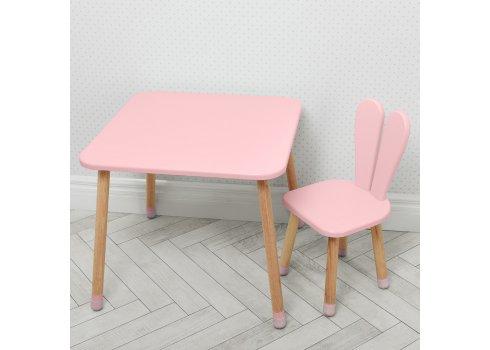 Столик со стульчиком Зайчик Bambi 04-025R розовый