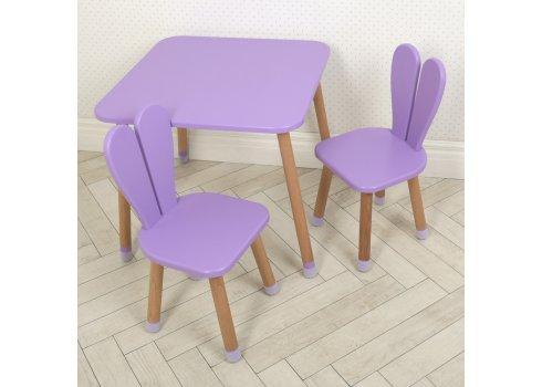 Столик и два стульчика Зайчик Bambi 04-025VIOLET+1 фиолетовый
