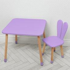 Столик со стульчиком Зайчик Bambi 04-025VIOLET фиолетовый