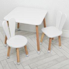 Столик и два стульчика Зайчик Bambi 04-025W+1 белый