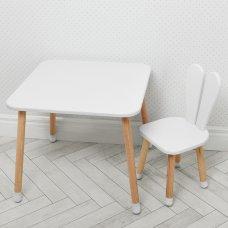 Столик со стульчиком Зайчик Bambi 04-025W белый