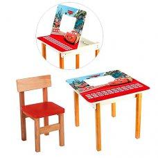 Столик с ящиком и стульчик, F09-1 Тачки