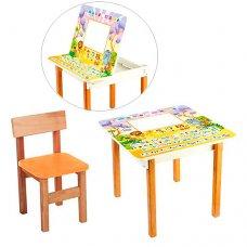 Столик с ящиком и стульчик, F09-2 Английский алфавит