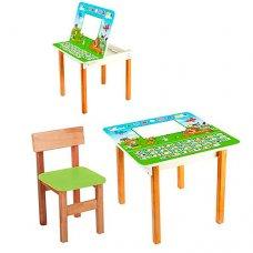 Столик с ящиком и стульчик, F09-5 Русский алфавит