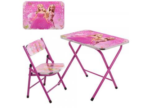 Детский складной столик со стульчиком Барби A19-BB