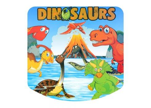 Детский складной столик со стульчиком Динозавры A19-DINO2 зеленый