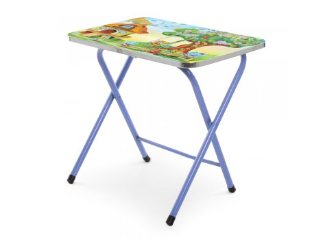 Детский складной столик со стульчиком Дом A19-HOME синий