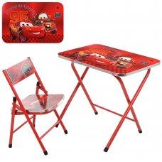 Детский складной столик со стульчиком Тачки A19-MQ
