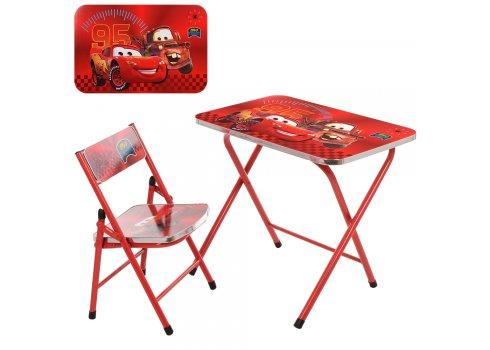 Детский складной столик со стульчиком Тачки A19-MQ красный