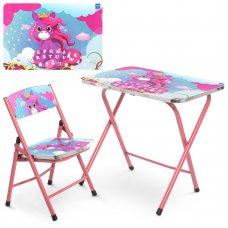 Детский складной столик со стульчиком Единорог A19-NEW UNI
