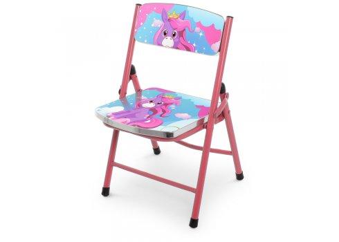 Детский складной столик со стульчиком Единорог A19-NEW UNI розовый