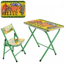 Детский складной столик со стульчиком Черепашки-ниндзя A19-NJ зеленый