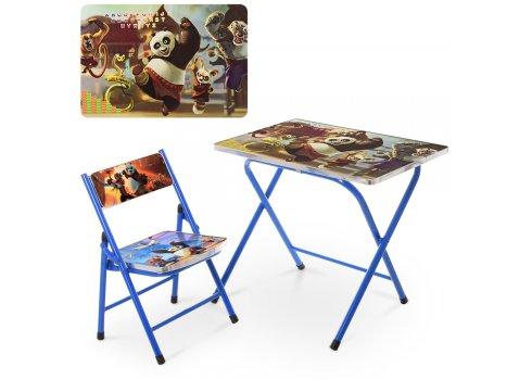 Детский складной столик со стульчиком Панда A 19-PANDA синий