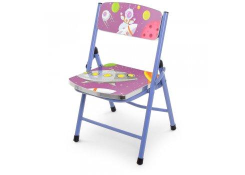 Детский складной столик со стульчиком Космос A19-SPACE сиреневый