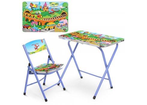 Детский складной столик со стульчиком Транспорт A19-TC