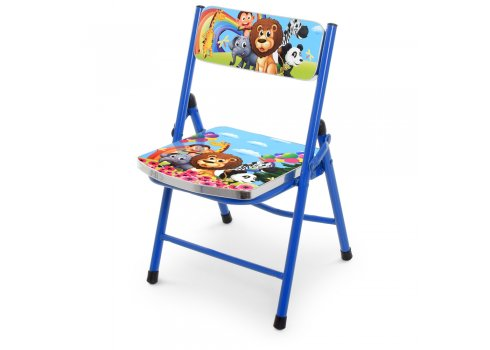 Детский складной столик со стульчиком Зоопарк A19-ZOO синий