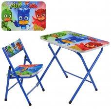 Детский складной столик со стульчиком Герои в масках A19-PM