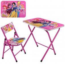 Детский складной столик со стульчиком Принцессы A19-PR