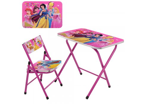 Детский складной столик со стульчиком Принцессы, A19-PR