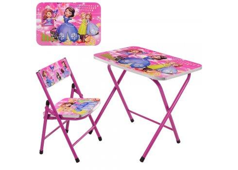 Детский складной столик со стульчиком София Прекрасная A19-SFP