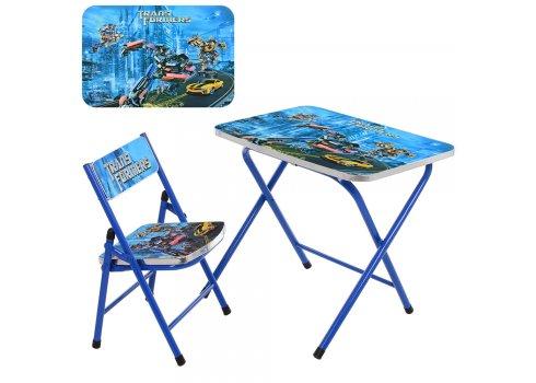 Детский складной столик со стульчиком Трансформеры, A19-TF