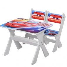 Детский столик и два стульчика BAMBI Тачки М 2100-05