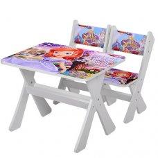Детский столик и два стульчика BAMBI Принцесса София М 2100-07