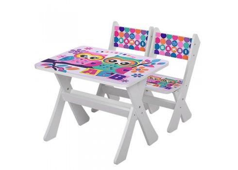 Детский столик и два стульчика BAMBI Совы М 2100-11